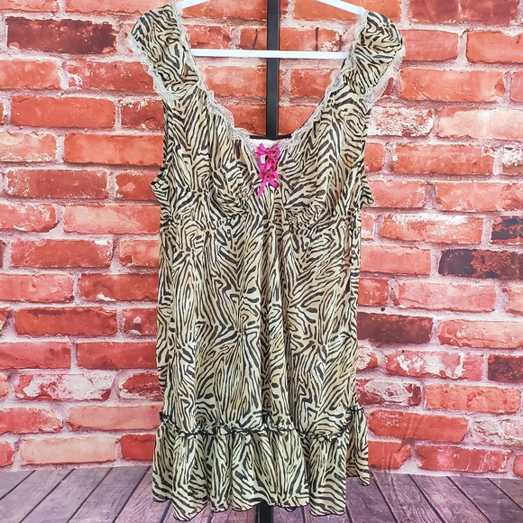 Cacique Other - Cacique zebra print sheer nightgown 22/24